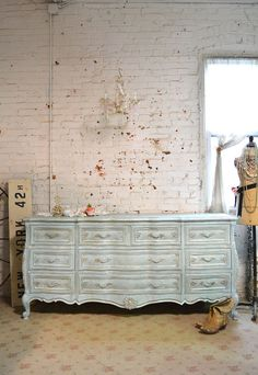 Reservemindypainted Cottage Chic Shabby French Dresser Dr799
