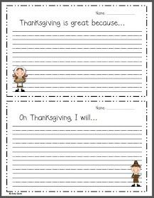 Krazy About Kiddos: Thanksgiving Writing Prompts- Freebie!