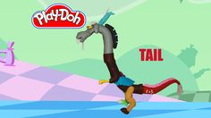 How to make Discord My Little Pony Part 3 of 3 ( Tail ) out of Play Doh