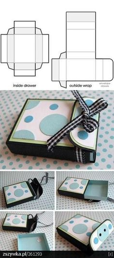Creative DIY Gift Box Design Ideas with Free Templates - Casual Crafter Diy Gift Box, Diy Box, Matchbox Template, Craft Gifts, Diy Gifts, Gift Box Design, Diy Papier, Gift Bags, Paper Crafts