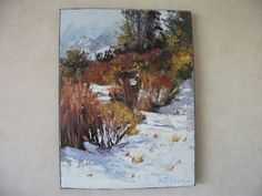SNOWTIME, snow, landscape, palette knife, textured, bright, New Zealand art, hand painted, signed, traditional, wall art, NZ art, gift, art by KareNZGallery on Etsy