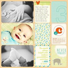 Baby Edition for Him Title Cards | digitalprojectlife