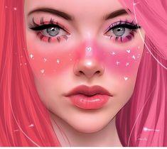 Digital Art Girl, Digital Portrait, Portrait Art, Sarra Art, Dibujos Tumblr A Color, Tumbrl Girls, Spirited Art, Arte Pop, Anime Art Girl