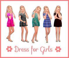 Dress for Girls 2 at Nathalia Sims via Sims 4 Updates