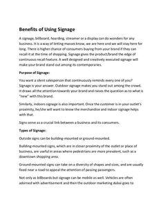 Benefits of Using Signage Creative Advertising, Advertising Agency, Digital Media Marketing, Free Films, Video Maker, 3d Animation, Film Director, Short Film, Uae
