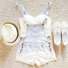 Jumper and White Crochet Lace Top!!