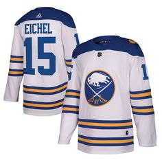 17025012 Men's Buffalo Sabres Jack Eichel adidas White 2018 Winter Classic Authentic  Player Jersey