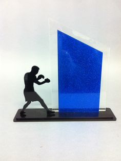 Boxing trophy laser cut acrylic