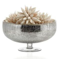 Haversham Bowl from Z Gallerie. Cheap bowl, use Krylon mirror finish paint