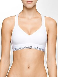 modern cotton lightly lined bralette $44.00