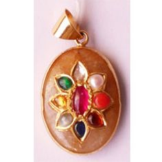 Navaratan Pendant - Navaratna refers to the nine gemstones related to the nine planets used in Vedic astrology. it can more effect for change your behavior and nature.