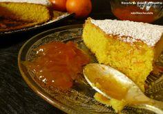 Bizcocho de naranja, almendra y polenta, bizcocho de naranja, receta de bizcocho, bizcocho de polenta, recetas sin gluten, blog de reposteri...