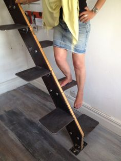 Image result for steep alternating tread stairs