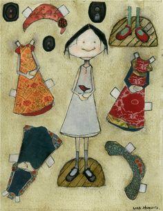 Agatha Rose Paper Dolls by lisahurwitz on Etsy
