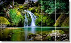 Image result for waterfall mural
