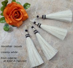 Horsehair Tassel 4 1/2 inches great for horse hair by Knotatail