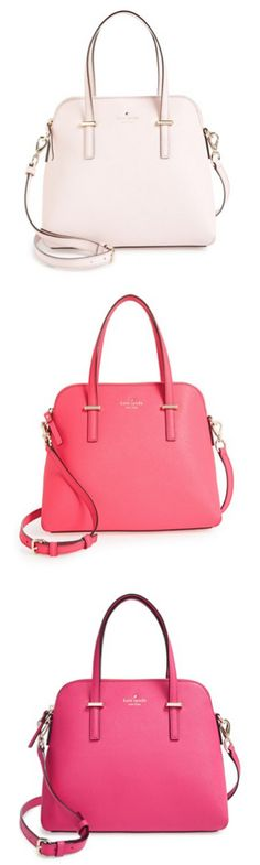 Kate Spade handbags...I'll take one in each color, please! Valentine's Day!