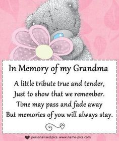 17 Best In Memory Of Nana Images Miss You Grandma Quotes