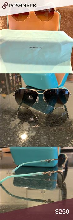 9db963e6fd47 Tiffany sunglasses Gorgeous Tiffany sunglasses in the stunning baby blue  arms