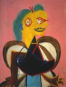 Lee Miller as seen by Picasso, 1937. Oil on canvas.