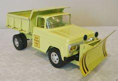 1958-59 Tonka State Hi-Way Dept Ford Cab Dump Truck w/ Plow