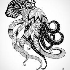 Intricate Marker Drawings by Ash Adam. |FunPalStudio| Art, Artist, Artwork, Illustrations, Entertainment, beautiful, creativity, drawing, animals, marker.