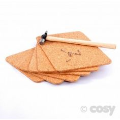 CORK MATS (6PK)  Great practise for your woodworks on these soft cork mats.