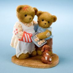Enesco - Cherished Teddies Courtney Cameron & Spot Cookies Are Warm Smiles Waiting To Happen - Roby's Hallmark My Teddy Bear, Cute Teddy Bears, Spotted Dog, Cozy Cover, Dog Cookies, Boyds Bears, Beanie Boos, Cold Porcelain, Porcelain Clay