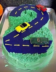 Car cake tutorial I posted for Lincoln's b-day last year.  I'm gearing up (ha! no pun intended) for his monster truck cake this year.