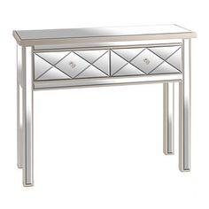 Diamond Mirrored Console Table | Kirklands