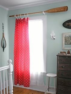 Curtain rod.