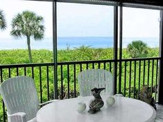 BEST view to the water FOR my MORNING COFFEE!!  Sanibel Island Condo Atrium 103 -  vrbo.com/308270#