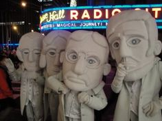 The Presidents made a stop at Radio City in New York City. #MountRushmoreMascots