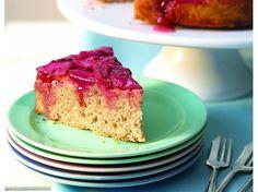 Upside-Down Rhubarb Cake  ivillage