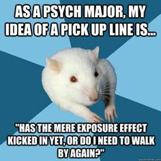 Psychology Major Rat - Pick up line