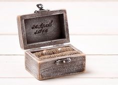 Wedding Ring Box Ring Holder Pillow Bearer Box Personalized Custom Wedding Ring Box Wooden Engagement Ring Box Burlap and Lace Rustic / D1 by InesesWeddingGallery on Etsy https://www.etsy.com/listing/183791254/wedding-ring-box-ring-holder-pillow