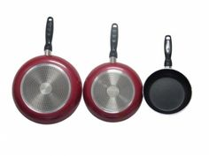Gourmet Chef Professional Heavy Duty Induction Non Stick Fry Pan Set - This set of three skillets/ fry pans will help you master every meal with it's advanced nonstick technology that ensures exceptional results and hassle-free cleanup. Set includes: 8, 10 and 12 skil... - All Pans - Kitchen