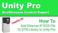 Add EthernetIP EDS File To DTM Library In Unity Pro New Names, Software Development, Unity, Ads, Technology, Youtube, Tech, Tecnologia, Youtubers
