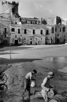 Henri Cartier-Bresson's shot on the beach at Forio on the Italian island of Ischia - 1952.
