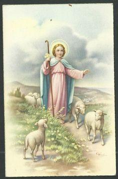 Postal antigua del Niño Jesus andachtsbild santino holy card santini | eBay