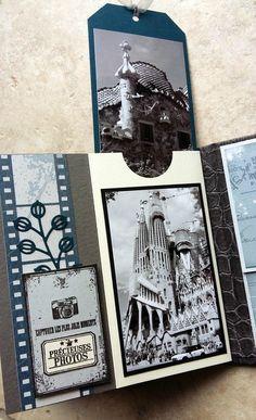 album photos 160425 Plus Scrapbooking Technique, Album Photo Scrapbooking, Mini Albums Scrapbook, Travel Scrapbook, Minis, Altered Books, Bookbinding, Mini Books, Scrapbooks