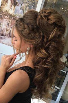 Best Ideas For Wedding Hairstyles : Featured Hairstyle: Elstile; High Ponytail Hairstyles, Down Hairstyles, Easy Hairstyles, Hairstyle Braid, Belle Hairstyle, Men's Hairstyle, Formal Hairstyles, Hairstyle Ideas, Elegant Wedding Hair