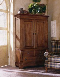 Solid Wood Armoire, Kincaid, Tuscano