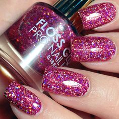 A pink-purple holographic polish that'll get you to second base.. or possibly a home run. Beautiful nails by reireishnailart