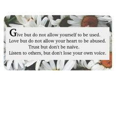 Give, Love,Trust and Listen