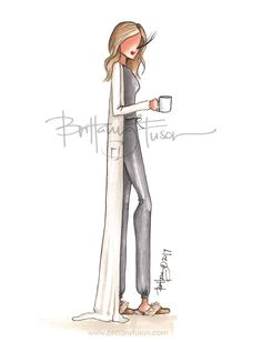 pajamas | Uggs | Barefoot Dreams | but first, coffee... | fashion illustration | comfy cozy | fall sweaters | Brittany Fuson