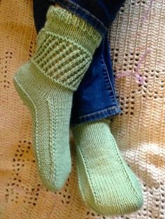 Ankle Warmer Boots Knitting Pattern - Easy to Knit Slippers for adults - 3 sizes, 3 styles made with Worsted, Pics of other styles on Etsy pattern page tba affiliate link