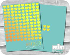 Personalized Erin Condren Golden Hearts Cover by Stationery List, Printable Planner, Printables, Golden Heart, Erin Condren, I Shop, Hearts, Cover, Print Templates