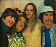The Mamas and Papas (1965-1968)  Denny Doherty (11/29/1940- 1/19/2007), Cass Elliot (9/19/1941-7/29/1974), Michelle Phillips and John Phillips (8/30/1935-3/18/2001)