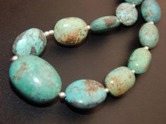 100% Natural turquoise Smoth Beads Oval Shape 11Inches by SRBEADS